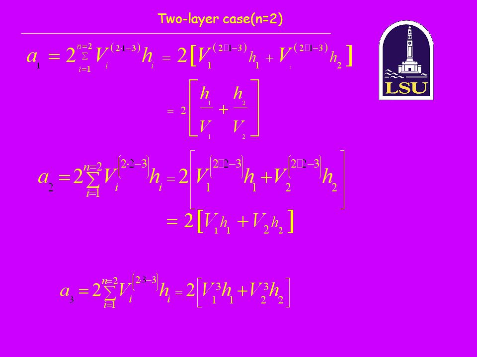 Two-layer case(n=2)