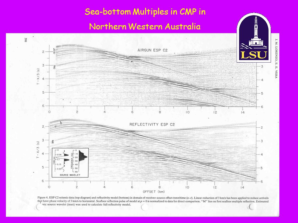 Sea-bottom Multiples in CMP in Northern Western Australia