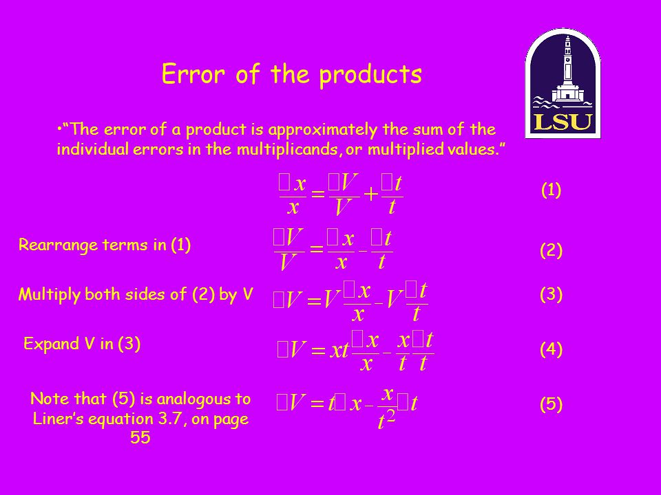 Note that (5) is analogous to Liner's equation 3.7, on page 55