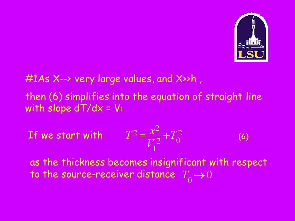 #1As X--> very large values, and X>>h ,