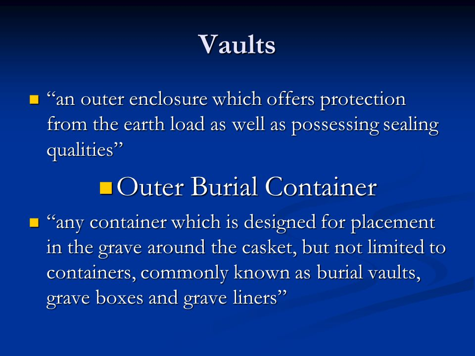 Outer Burial Container