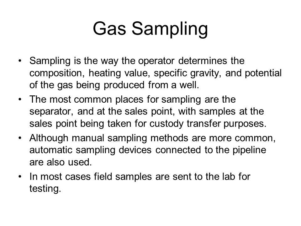 Gas Sampling