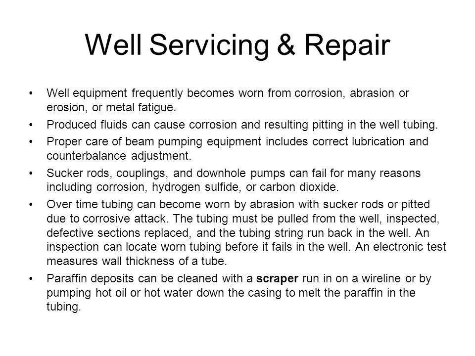 Well Servicing & Repair