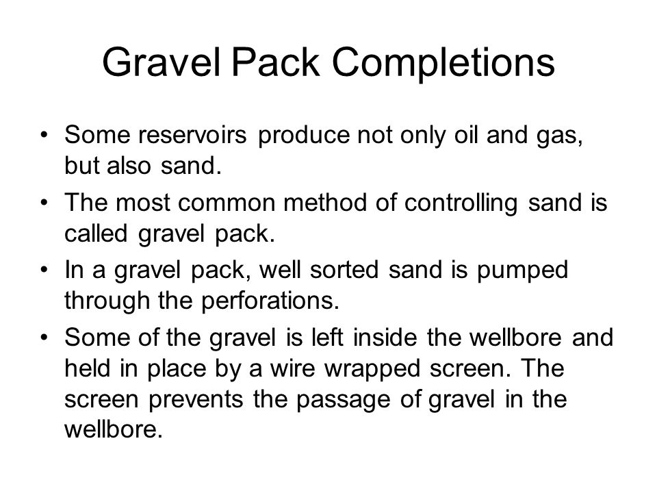 Gravel Pack Completions