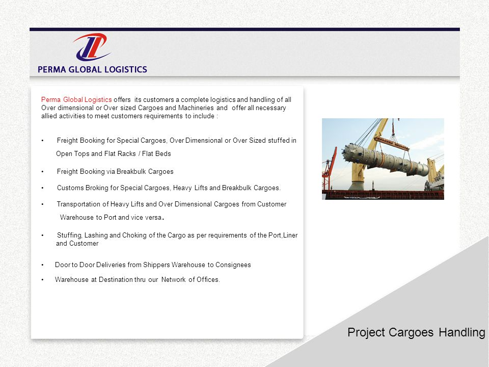 Project Cargoes Handling
