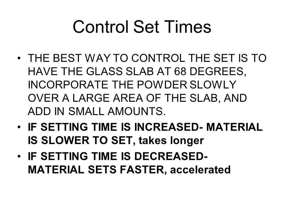 Control Set Times