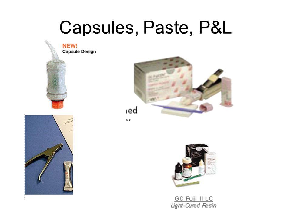 Capsules, Paste, P&L