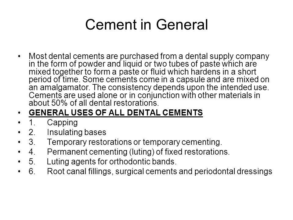 Cement in General