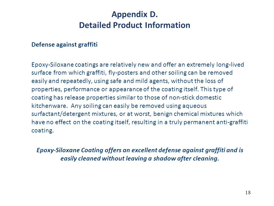 Appendix D. Detailed Product Information