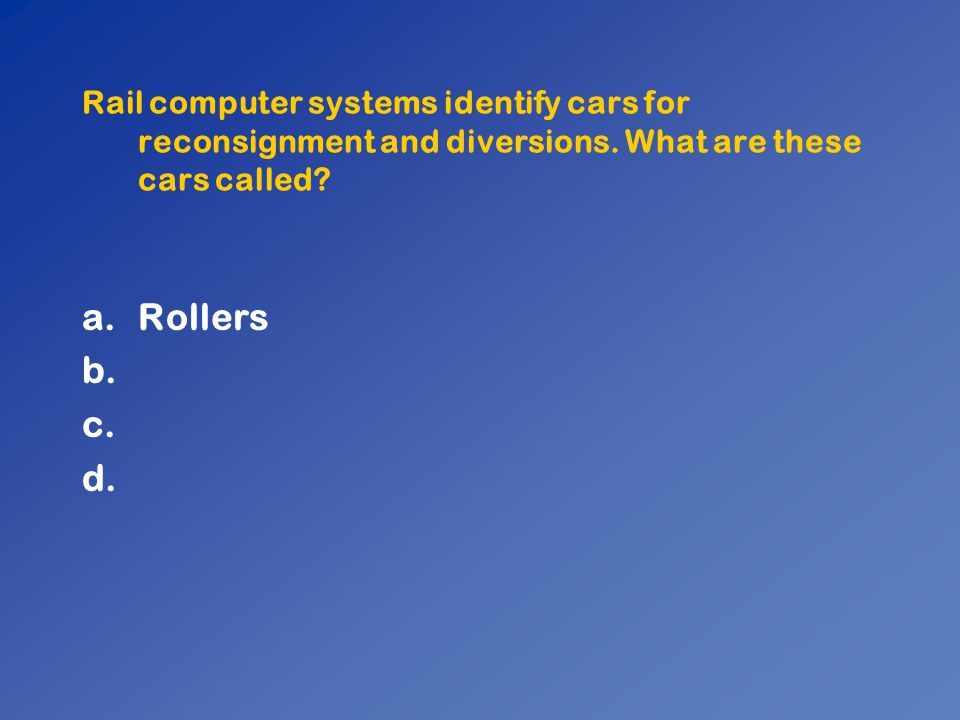 Rail computer systems identify cars for reconsignment and diversions