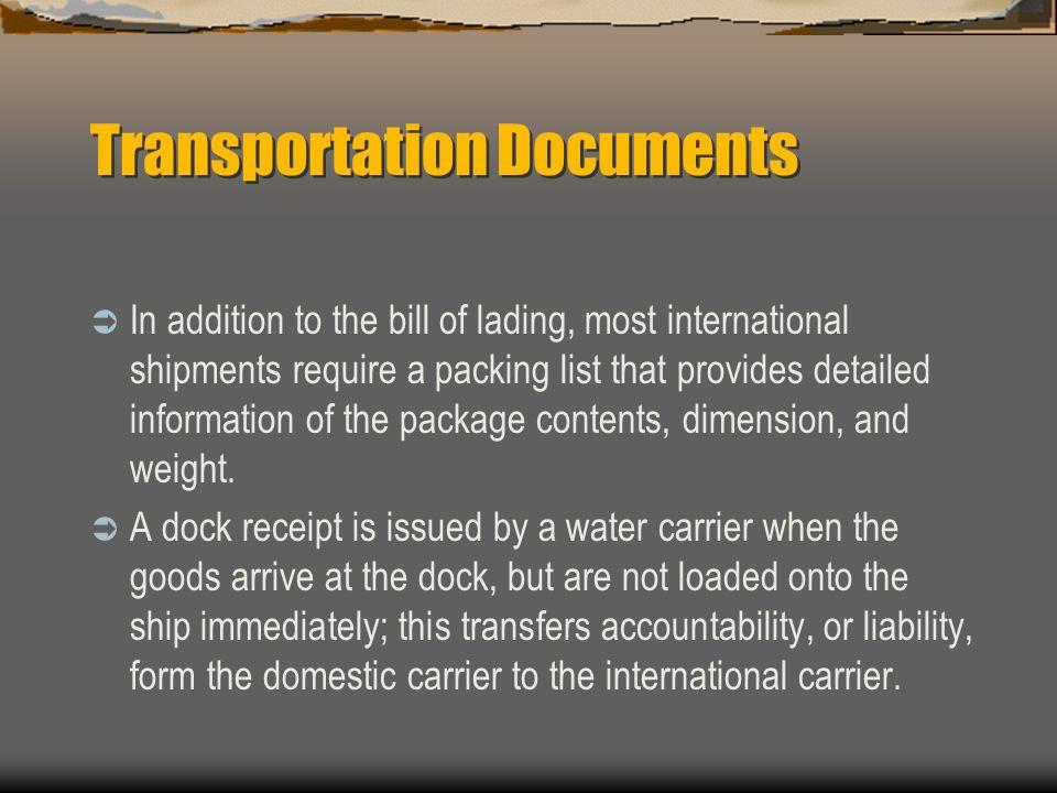 Transportation Documents
