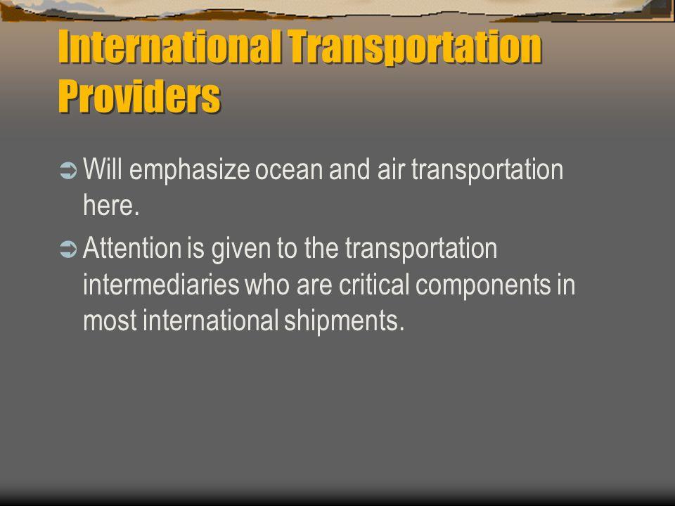 International Transportation Providers