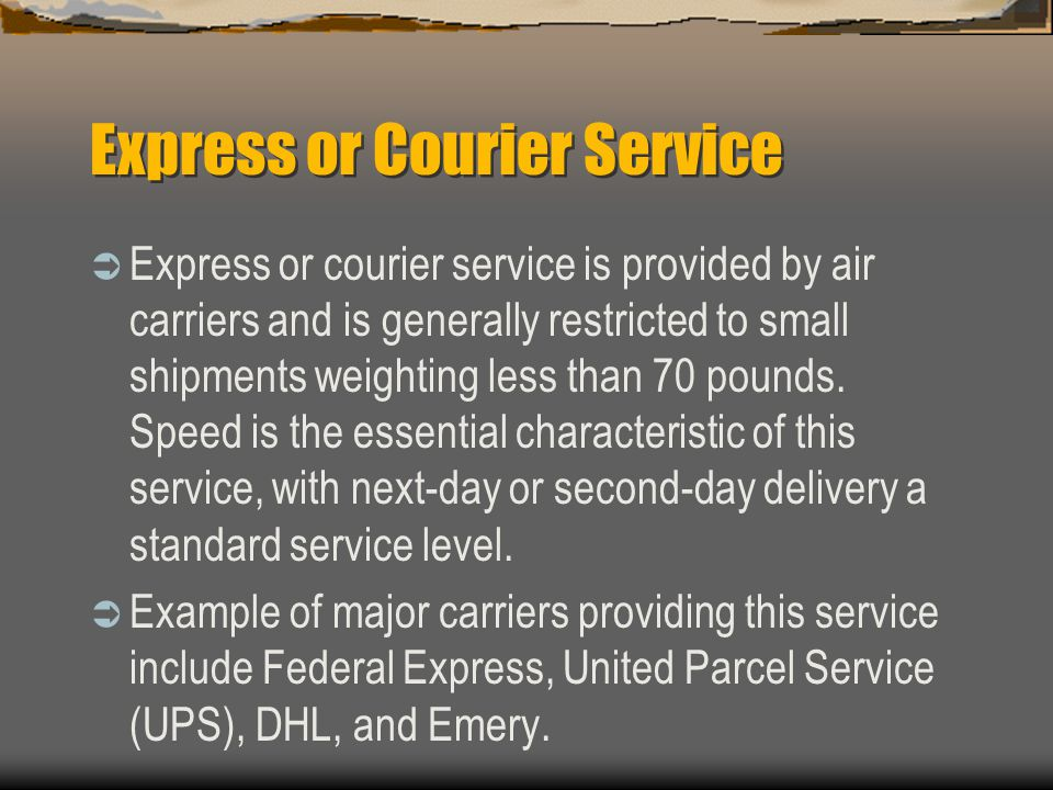 Express or Courier Service