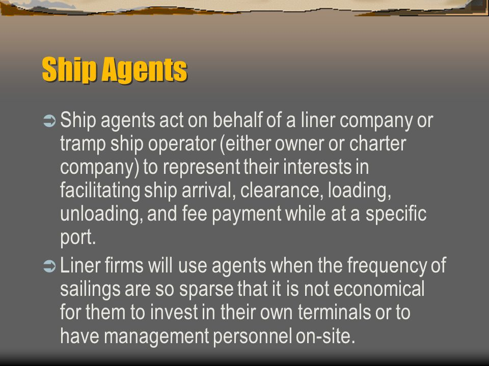 Ship Agents