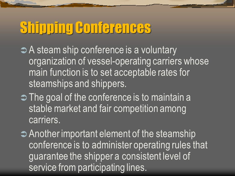 Shipping Conferences