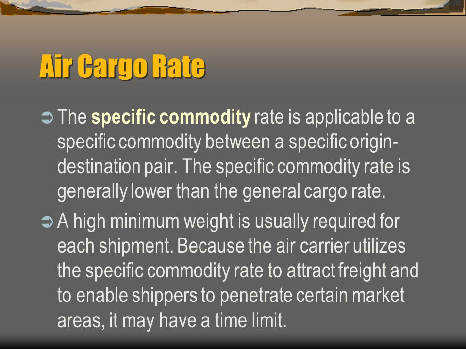 Air Cargo Rate
