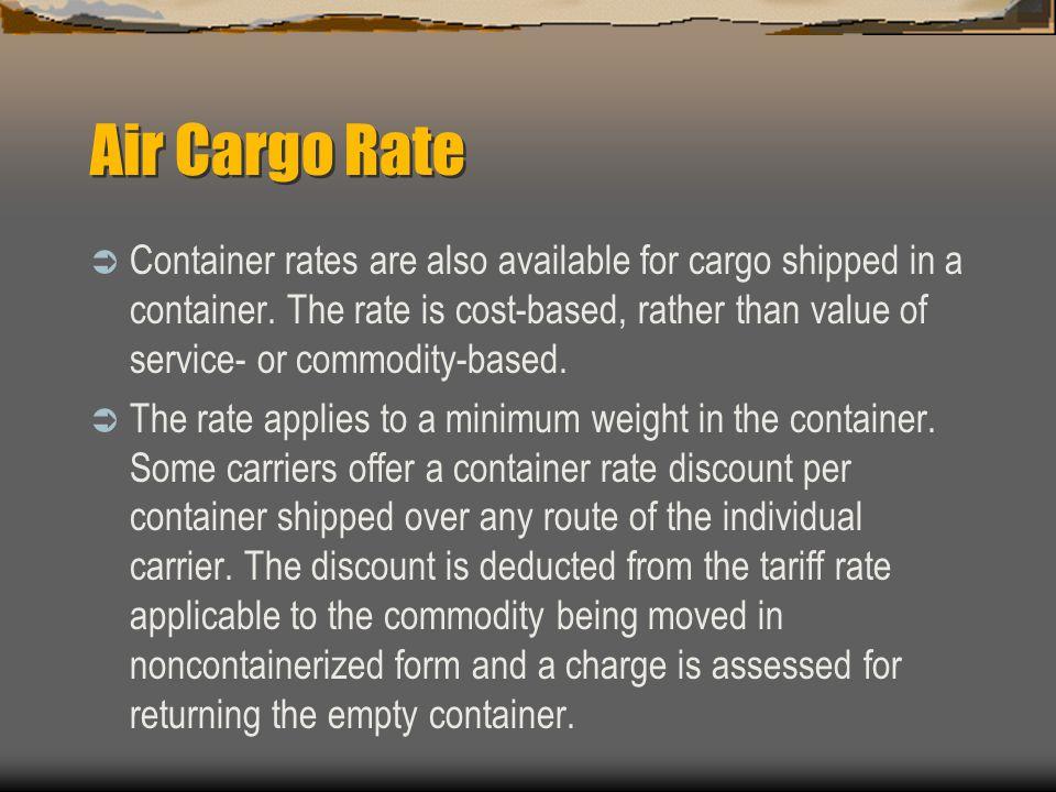 Air Cargo Rate