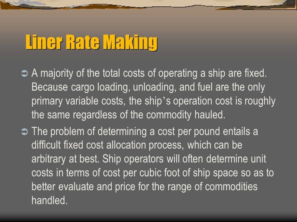 Liner Rate Making