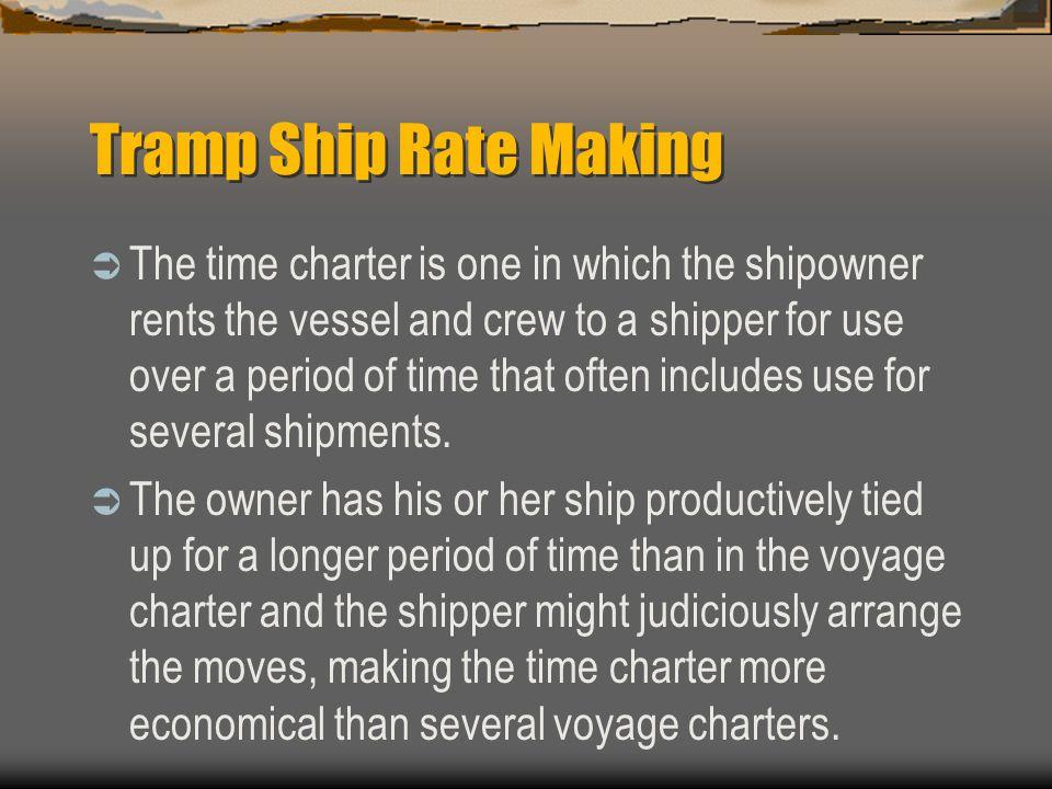 Tramp Ship Rate Making