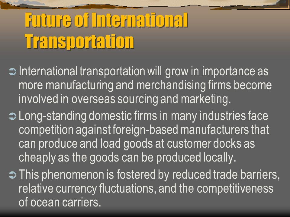Future of International Transportation