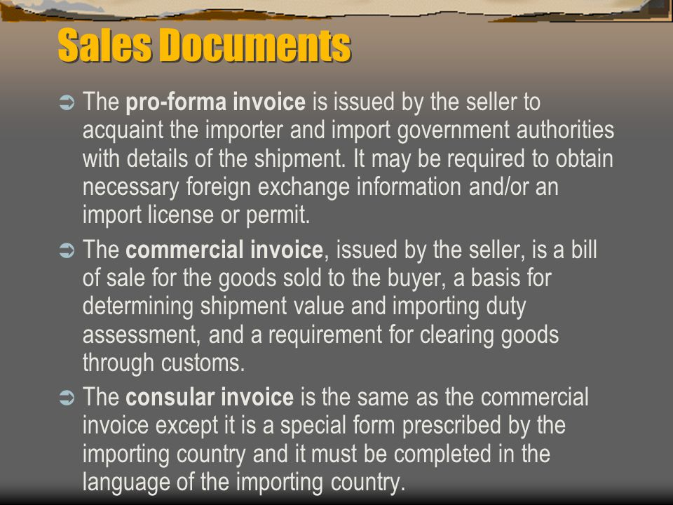 Sales Documents