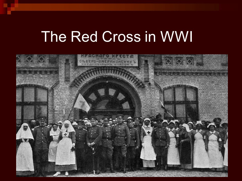 The Red Cross in WWI