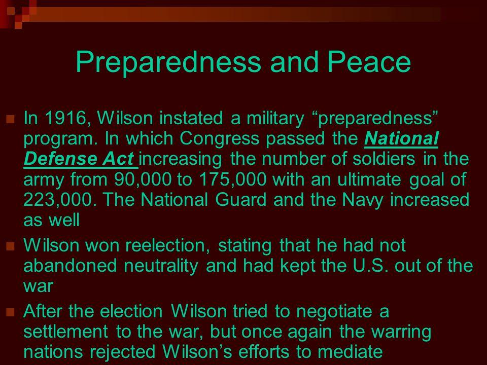 Preparedness and Peace