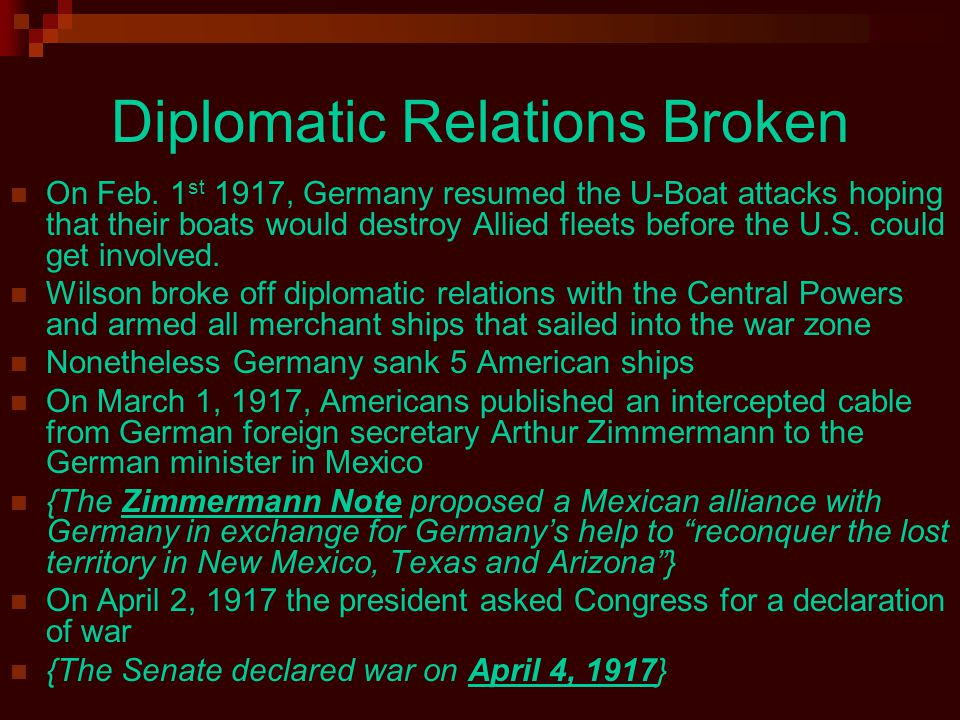 Diplomatic Relations Broken