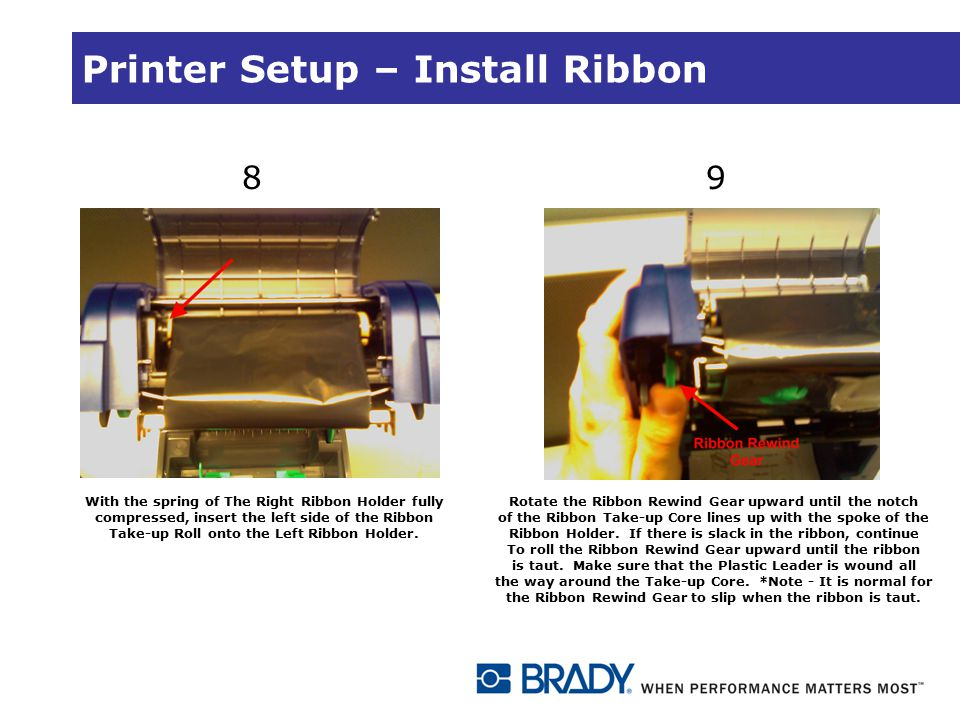 Printer Setup – Install Ribbon