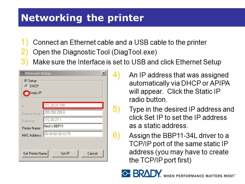 Networking the printer