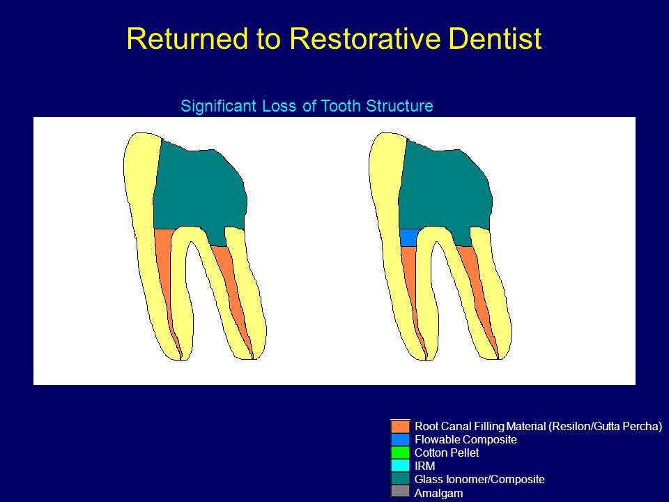Returned to Restorative Dentist