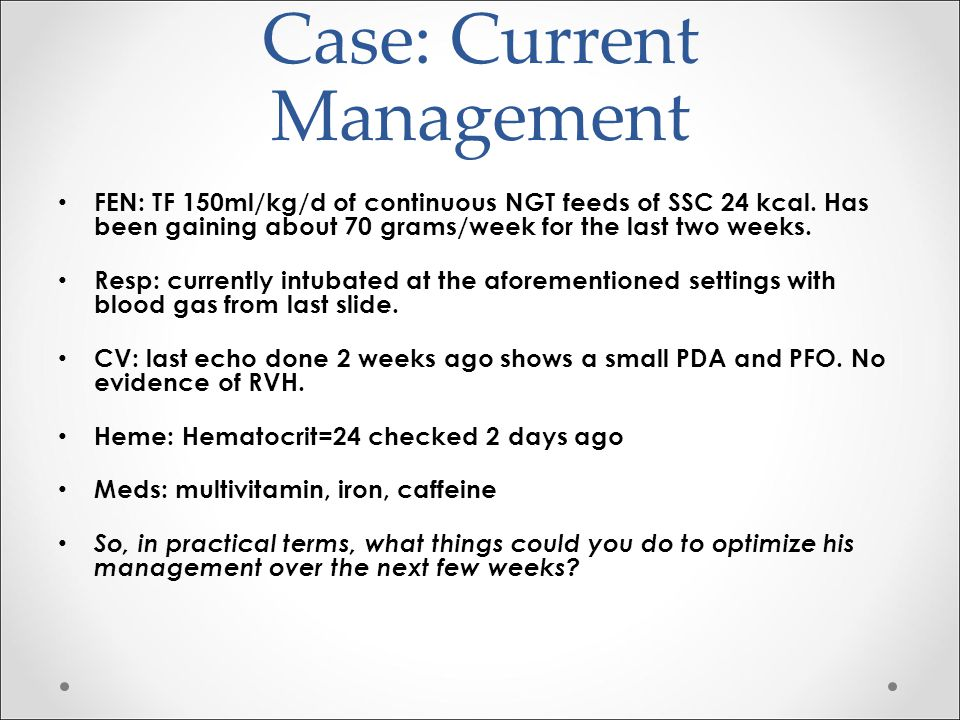 Case: Current Management