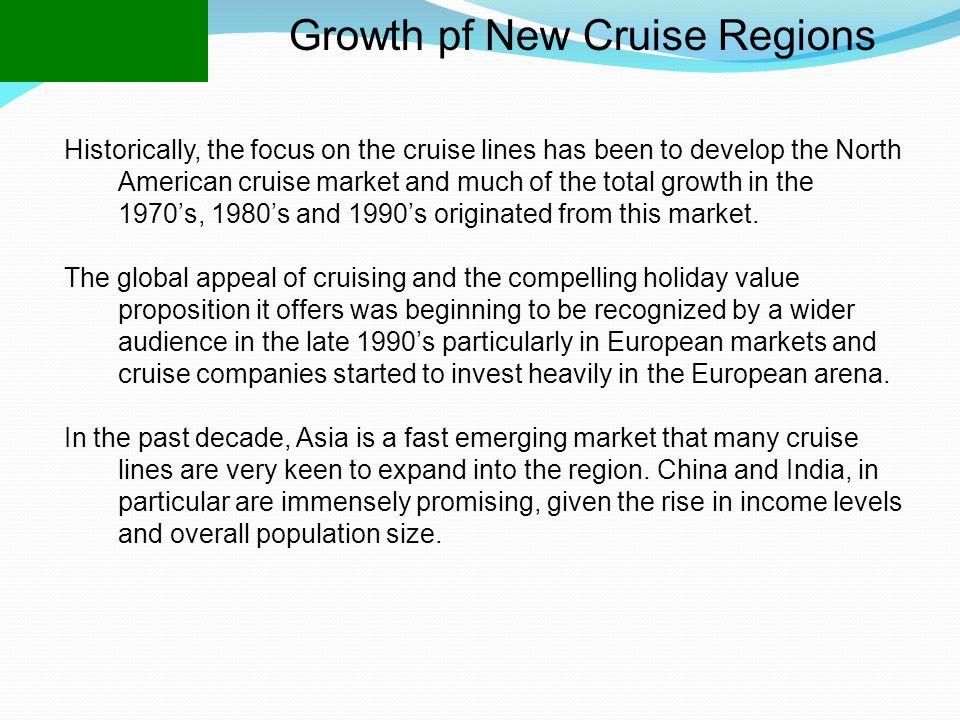 Growth pf New Cruise Regions