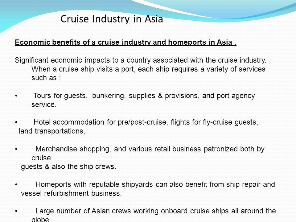 Cruise Industry in Asia