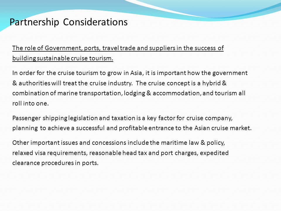 Partnership Considerations
