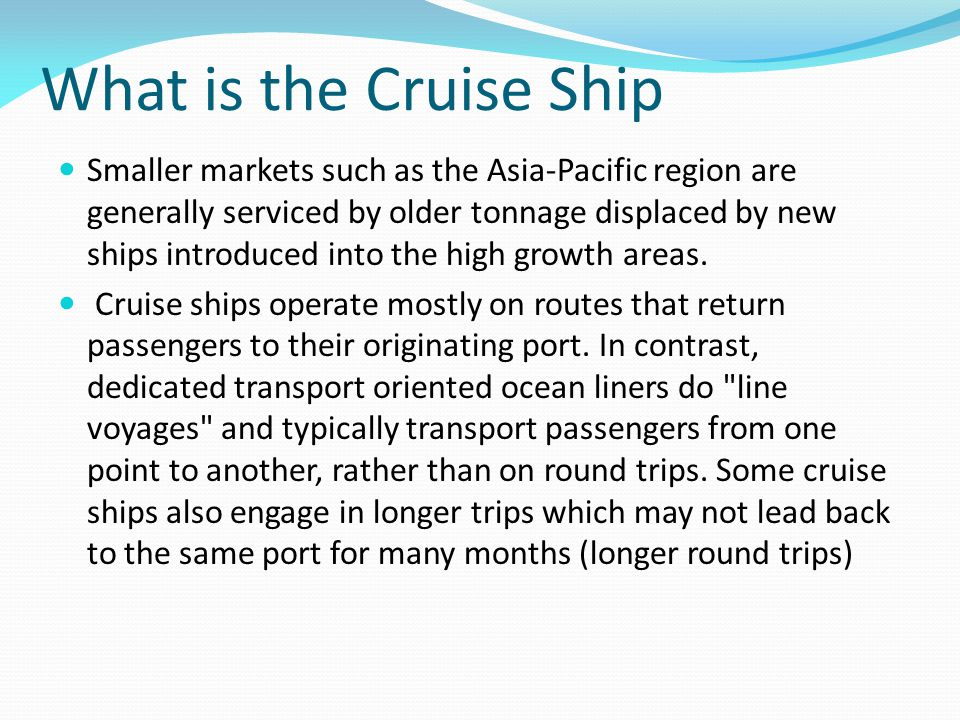 Cruise ship marketing mix