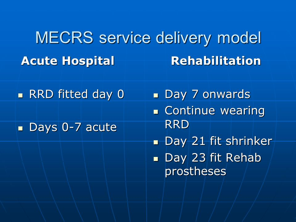 MECRS service delivery model