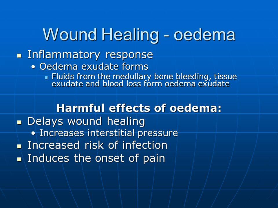 Harmful effects of oedema: