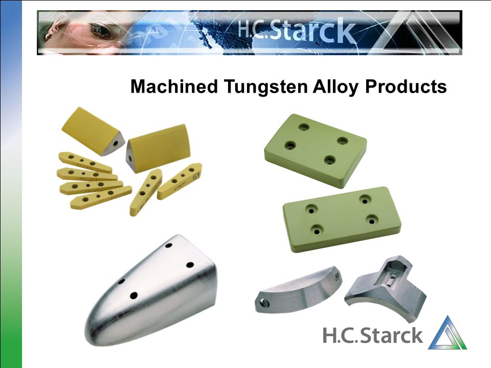 Machined Tungsten Alloy Products