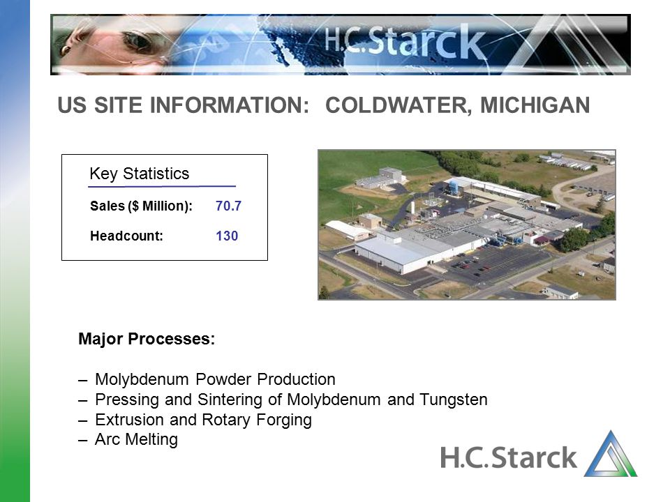 US SITE INFORMATION: COLDWATER, MICHIGAN