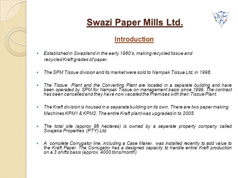Swazi Paper Mills Ltd. Introduction