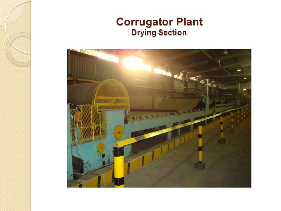 Corrugator Plant Drying Section