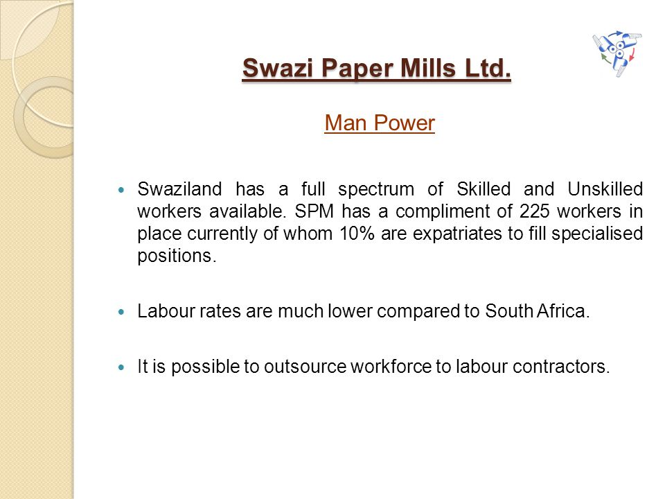 Swazi Paper Mills Ltd. Man Power