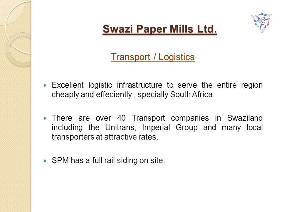 Swazi Paper Mills Ltd. Transport / Logistics