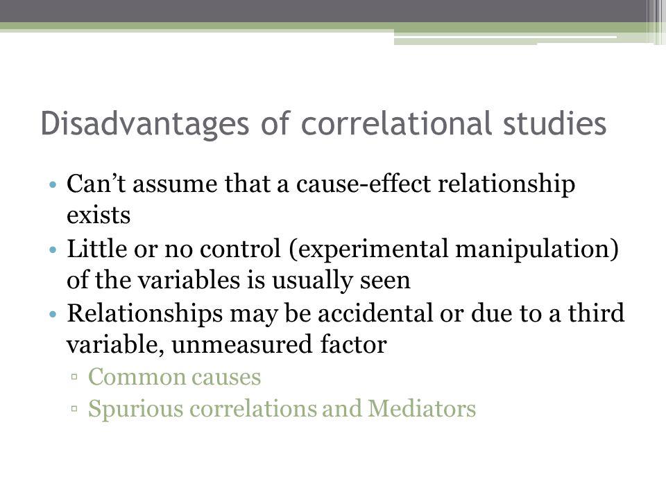 Disadvantages of correlational studies