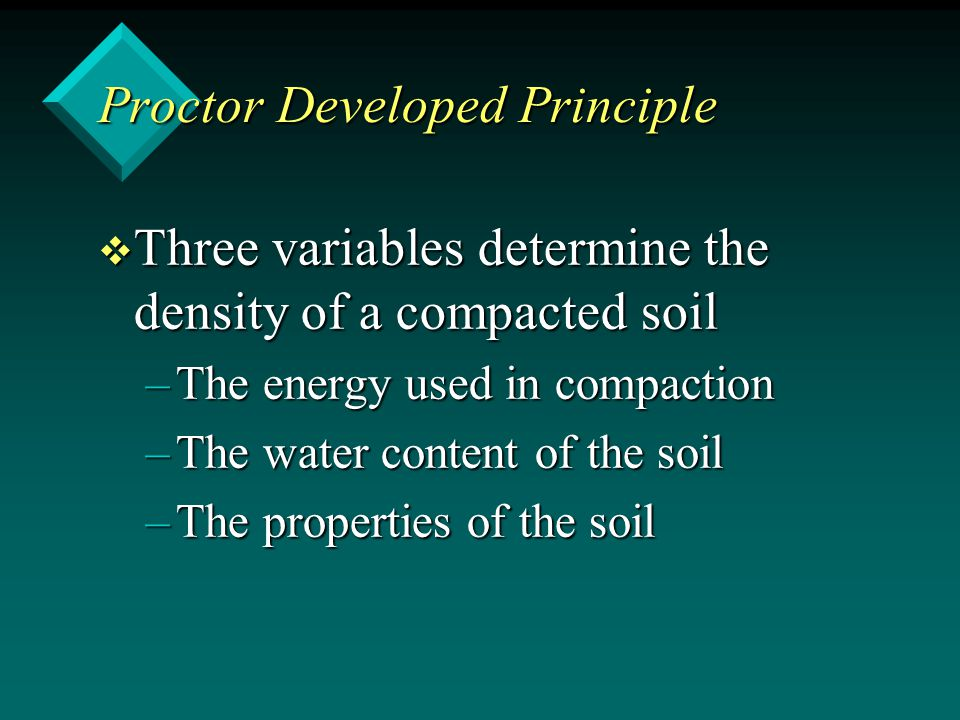 Proctor Developed Principle