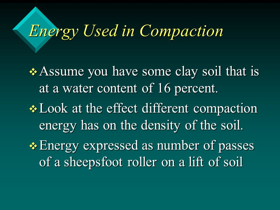Energy Used in Compaction