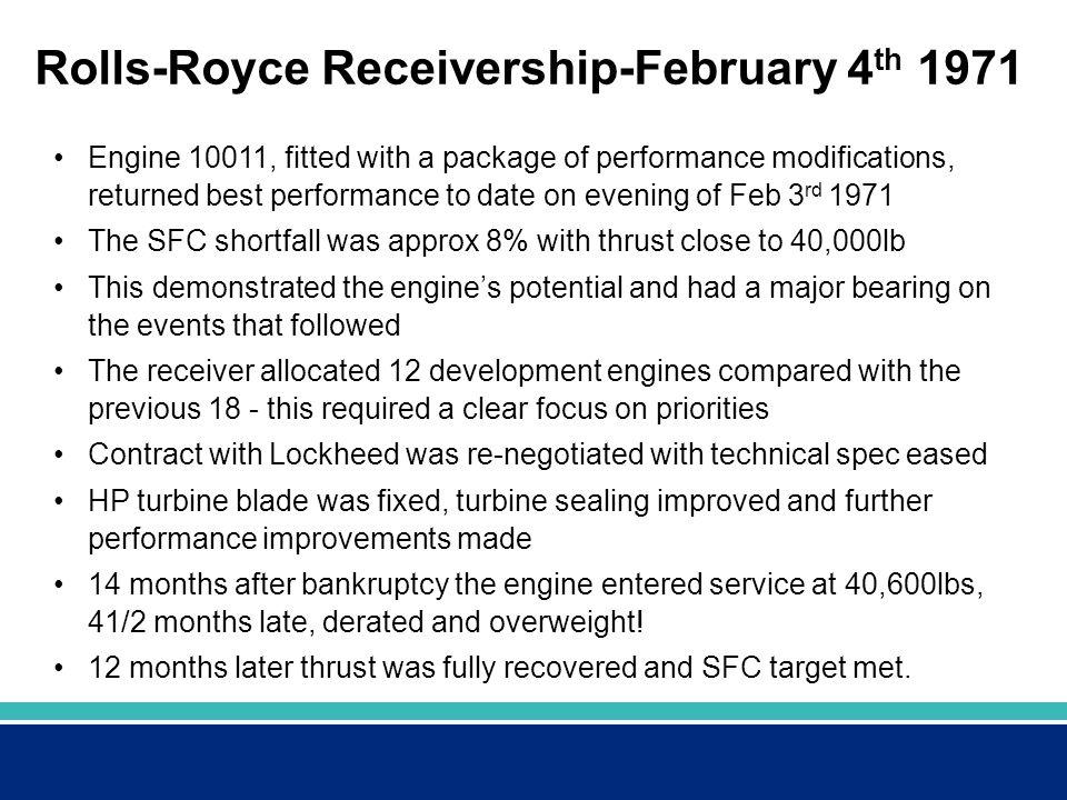Rolls-Royce Receivership-February 4th 1971