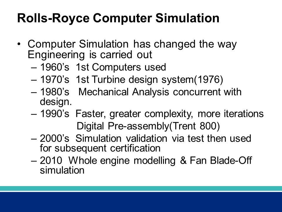 Rolls-Royce Computer Simulation