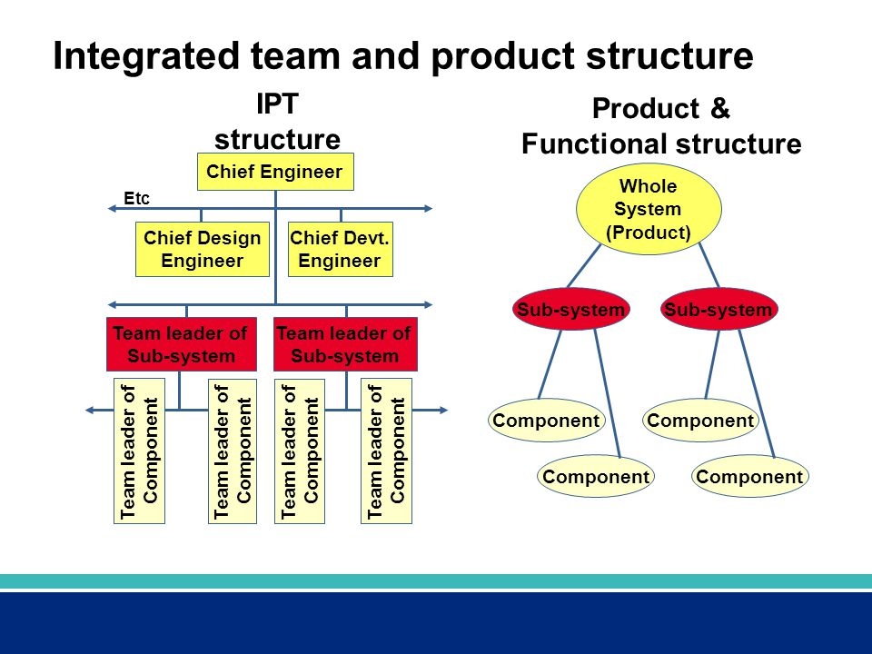 Integrated team and product structure